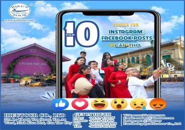 TOP 10 PLACES FOR INSTAGRAM/FACEBOOK POSTS IN CẦN THƠ