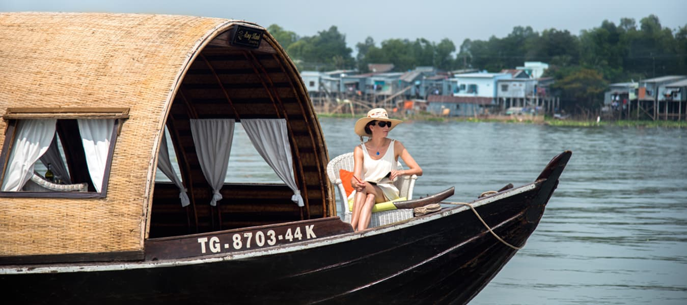 Cruising along the Mekong River